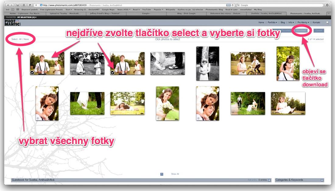 stažení fotografií z webu Photomantic